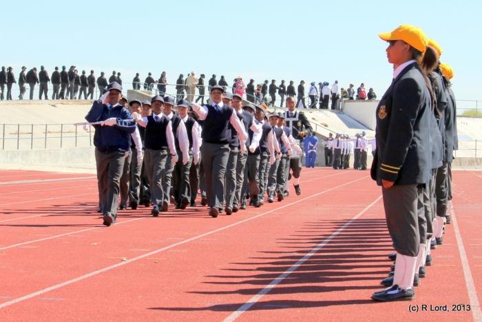 Saluting the dignitaries