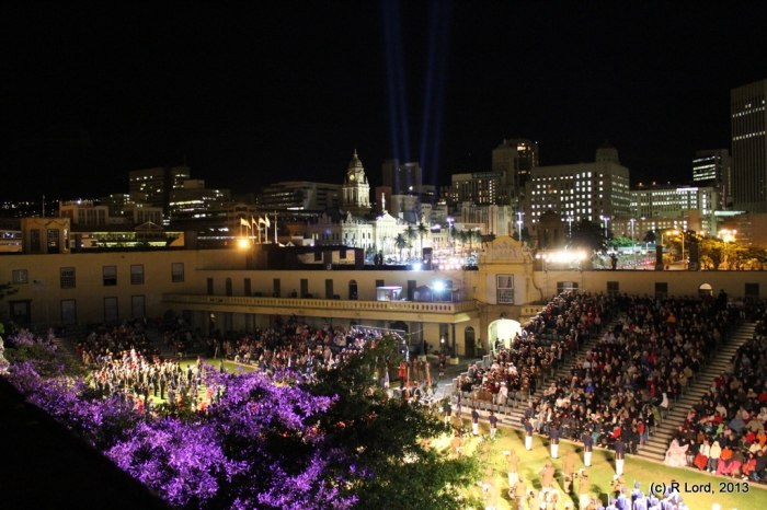 The cityscape and the Cape Town Military Tattoo 2010