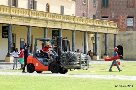 The man with the forklift - a cool job!