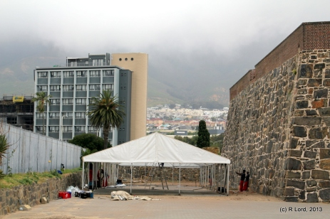 The tent for the participants