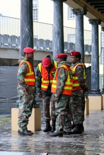 MPs in their reflective vests