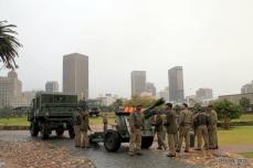 The CFA gun crews re-hitch their guns to the trailers