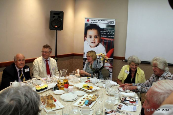 The VIP table with Mr Colin Eglin and Premier Helen Zille