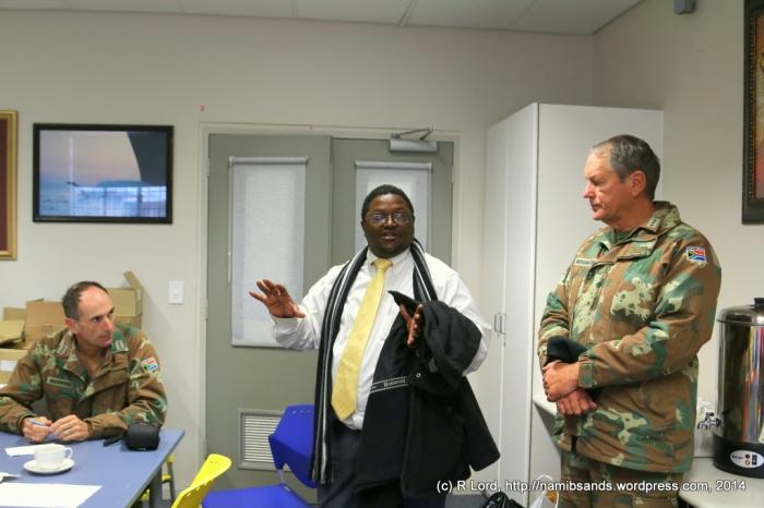 David Stephens of the Friends of the Children's Hospital Association talks with Capt John Manning and Capt John Dorrington of the Dukes