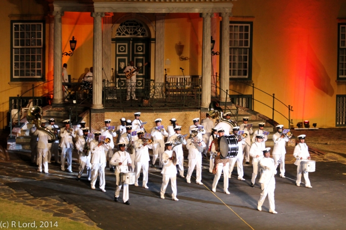South African Navy Band, led by Drum Major Chief Petty Officer Nkululeko Magubane