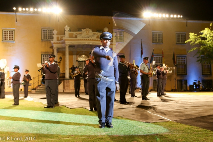 South African Air Force Band, led by Drum Major Flight Sergeant Musa Radebe