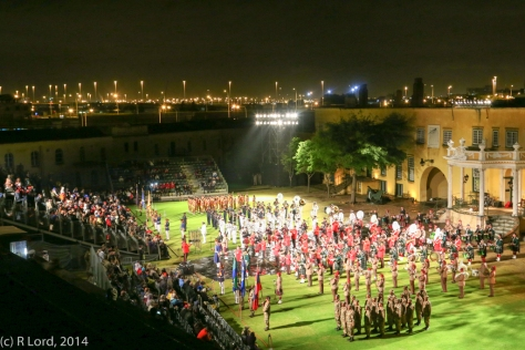 The Final Muster of all the participating acts of the Cape Town Military Tattoo 2013