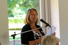 Liz Linsell introduces the guest speaker