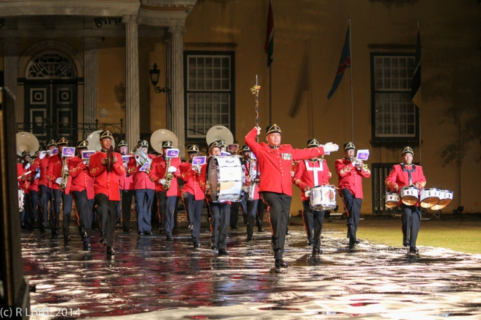 The SA Army Band Cape Town, led by Drum Major WO1 André van Schalkwyk