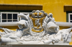 The crest above the Kat balcony