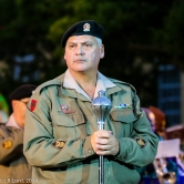 WO1 Andre van Schalkwyk - Drum major of the SA Army Band Western Cape - has a pensive moment