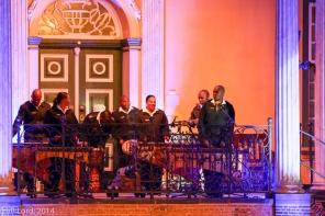 The Marimba section of the SA Navy Band plays the accompanying music