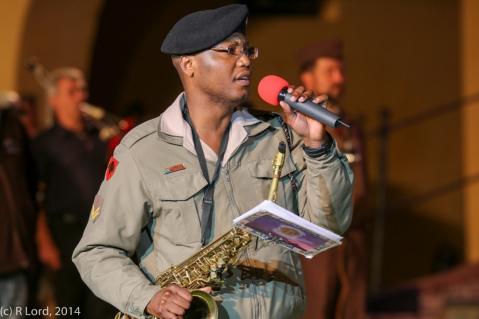 Corporal Godfrey Rahube sings 'You Raise Me Up'