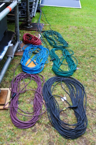 Colourful cables wait to be connected