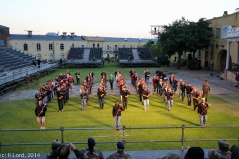 Massed pipes and drums - slow march