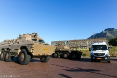 Ratel and Rooikat side by side