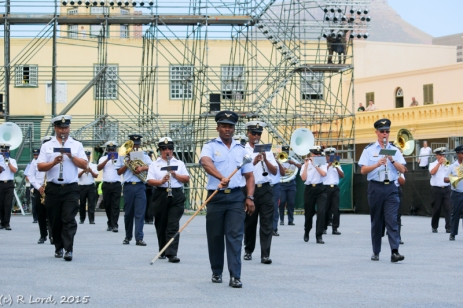The SA Air Force Band and the SA Navy Band are performing together in a single act called 'Maritime Aviation'