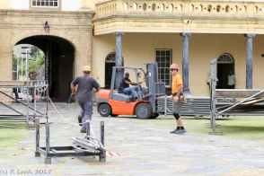 Action shot - oh, is that an *orange* forklift?