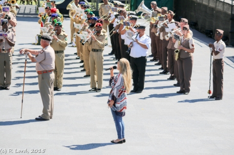Chloë Agnew at the Cape Town Military Tattoo!