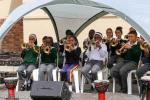 The youngsters of the Izivunguvungu Youth Band play enthusiastically